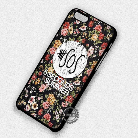 5 Seconds Of Summer on Floral - iPhone 7 6 5 SE Cases & Covers
