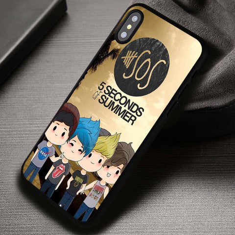 5 Seconds Of Summer Cute Chibi - iPhone X 8+ 7 6s SE Cases & Covers #iPhoneX