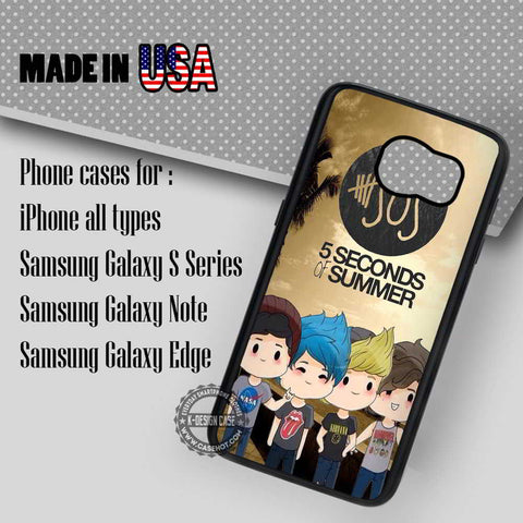 5 Seconds Of Summer Cute - Samsung Galaxy S7 S6 S5 Note 5 Cases & Covers - samsungiphonecases