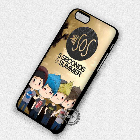 5 Seconds of Summer Cute Chibi - iPhone 8+ 7 6s SE Cases & Covers