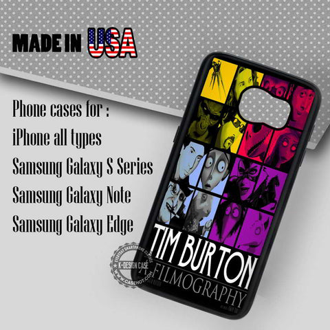 A Filmography Tim Burton - Samsung Galaxy S7 S6 S5 Note 5 Cases & Covers - samsungiphonecases
