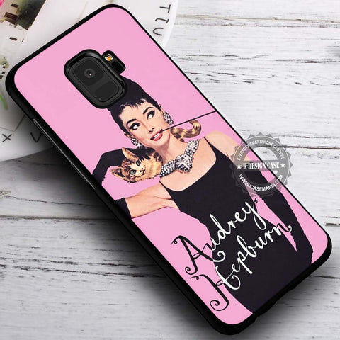 A Girl With A Cat - Samsung Galaxy S8 S7 S6 Note 8 Cases & Covers #SamsungS9