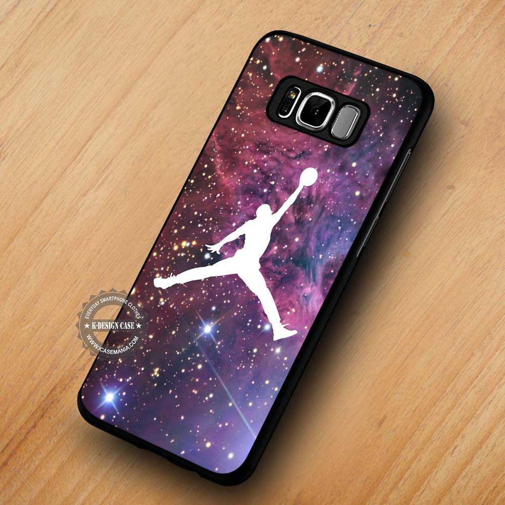 best service 6772e 56af6 Air Jordan on Space Basketball - Samsung Galaxy S8 S7 S6 Note 8 Cases &  Covers #SamsungS8