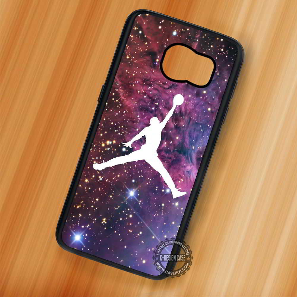 best sneakers e4b4b 4dcc3 Air Jordan on Space Basketball - Samsung Galaxy S7 S6 S5 Note 7 Cases &  Covers