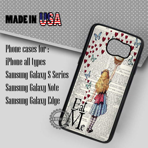 Alice in Wonderland Disney - Samsung Galaxy S7 S6 S5 Note 5 Cases & Covers - samsungiphonecases