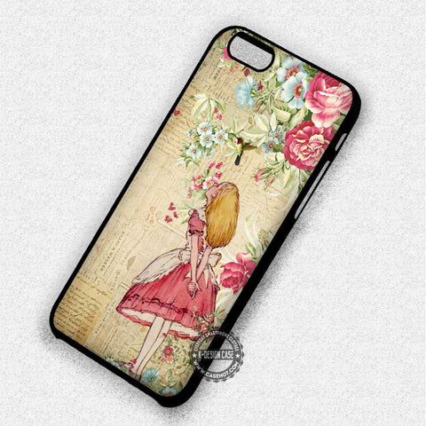 Alice in Wonderland Vintage Floral - iPhone 7 6 5 SE Cases & Covers