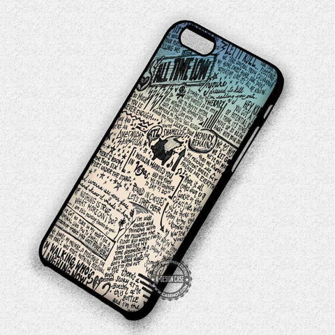 All Time Low Lyrics Retro - iPhone 7 6 Plus 5c 5s SE Cases & Covers