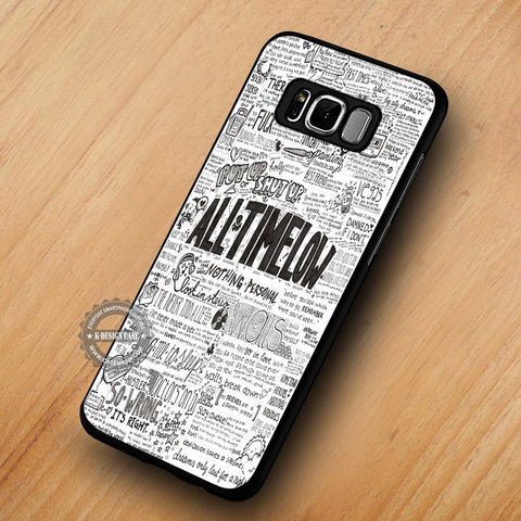 All Time Low Collage Lyric - Samsung Galaxy S8 Case