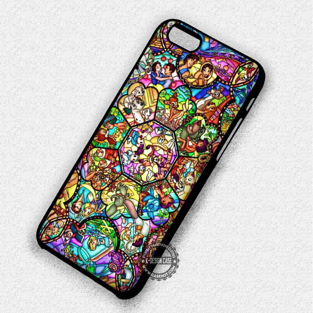 differently f5751 3da32 All Heroes Disney Stained Glass - iPhone 8+ 7 6s SE Cases & Covers