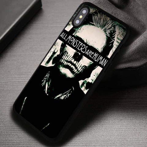 All Monsters Are Human Evan Peters - iPhone X Case
