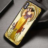 Alphonse Mucha Inspired Snow White Disneyland - iPhone X Case