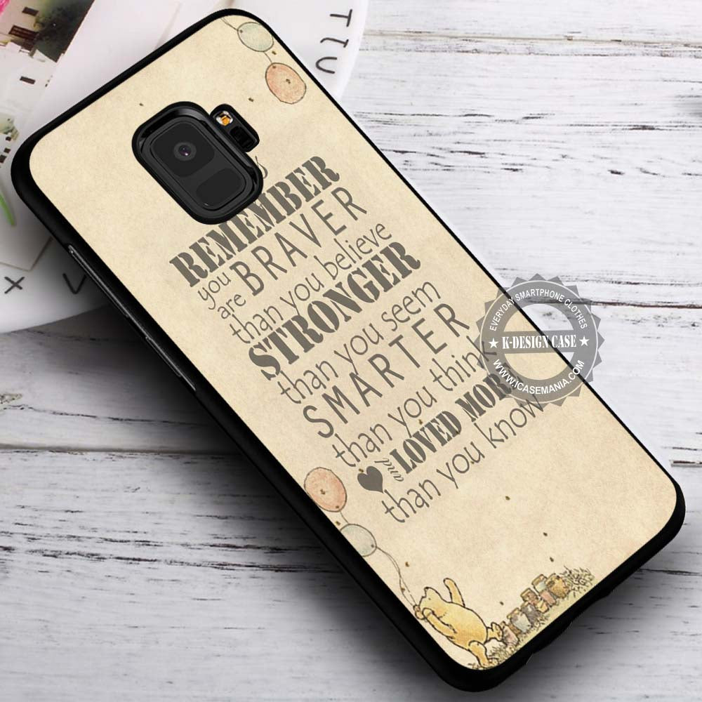 online retailer 9d464 dadca Always Remember Winnie The Pooh - Samsung Galaxy S8 S7 S6 Note 8 Cases &  Covers #SamsungS9