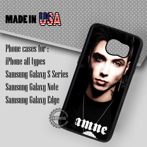 Andy Biersack Black Veil - Samsung Galaxy S8 S7 S6 Note 8 Cases & Covers