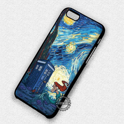 Ariel The Little Mermaid and Tardis - iPhone 7 6 5 SE Cases & Covers