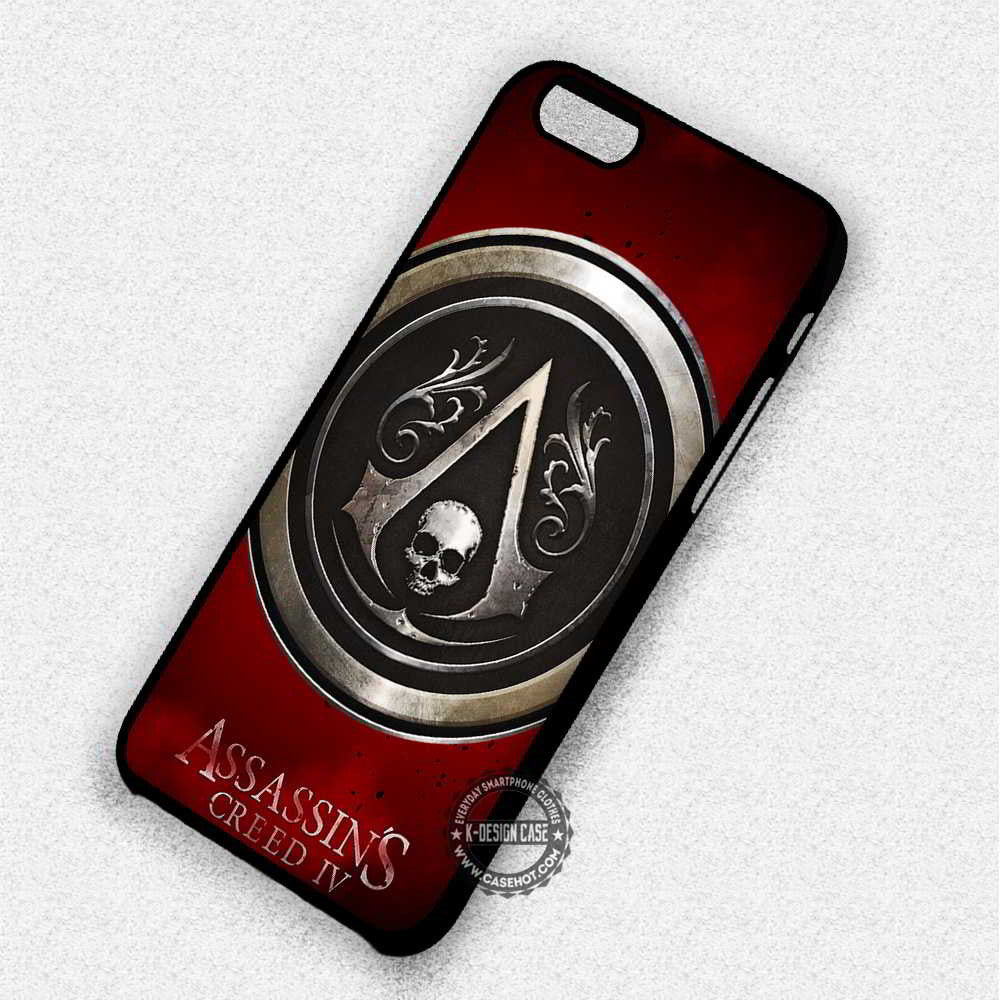 Assassins Creed Black Flag Logo Iphone 7 6 5 Se Cases Covers