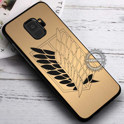 Attack on Titan Scouting Legion Golden - Samsung Galaxy S8 S7 S6 Note 8 Cases & Covers #SamsungS9