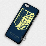 Attack on Titan Scouting Legion  - iPhone 7 6 5 SE Cases & Covers