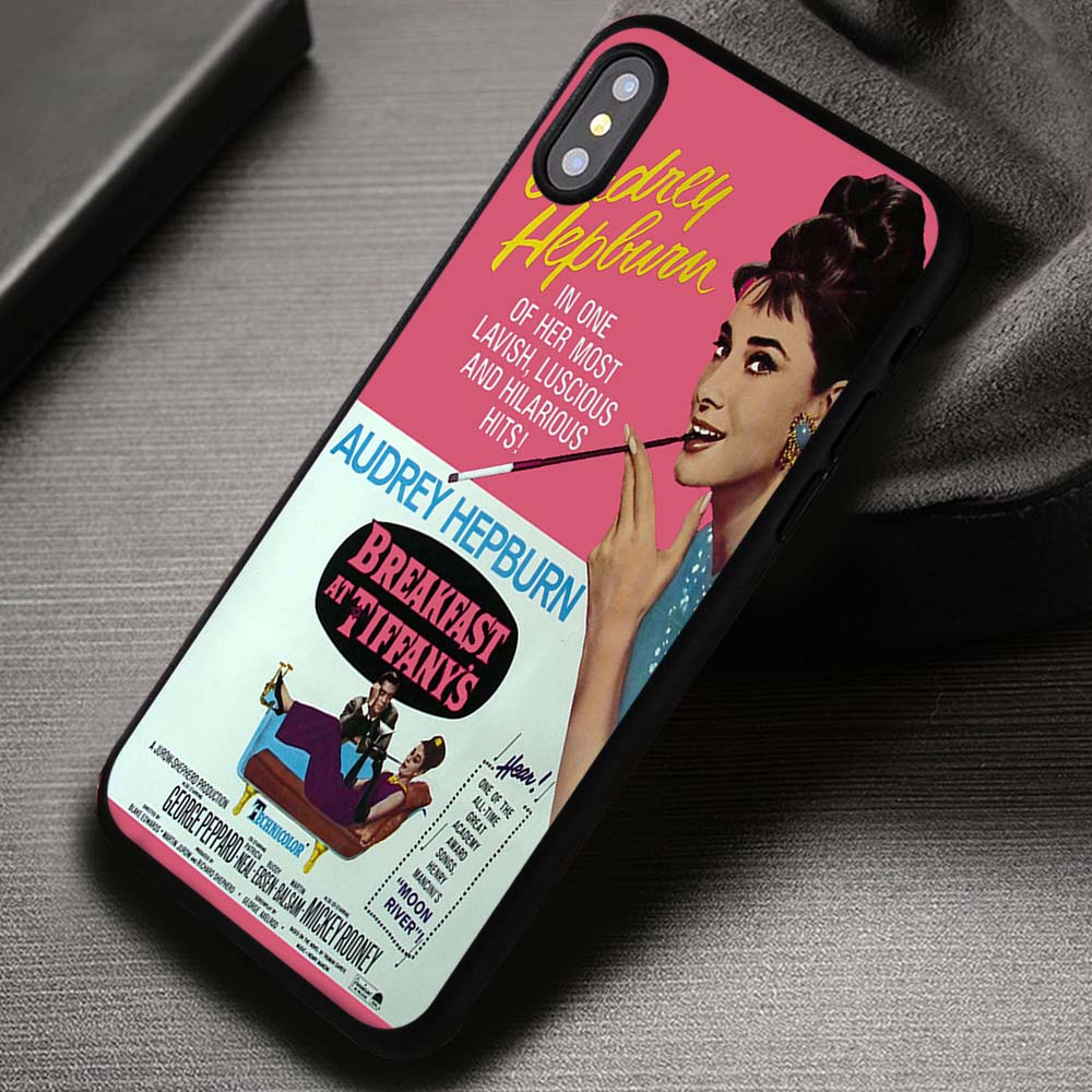 sports shoes 71dc8 891a7 Audrey Hepburn Breakfast At Tiffany's Movie Poster - iPhone X 8+ 7 6s SE  Cases & Covers #iPhoneX