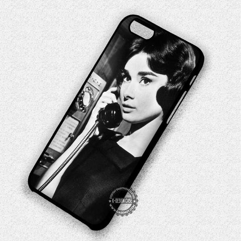 Audrey Hepburn On Telephone - iPhone 7 6 5 SE Cases & Covers