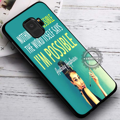 Audrey Hepburn Quote Vintage - Samsung Galaxy S8 S7 S6 Note 8 Cases & Covers #SamsungS9