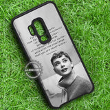 Audrey Hepburn Beauty Quotes - Samsung Galaxy S8 S7 S6 Note 8 Cases & Covers #SamsungS9