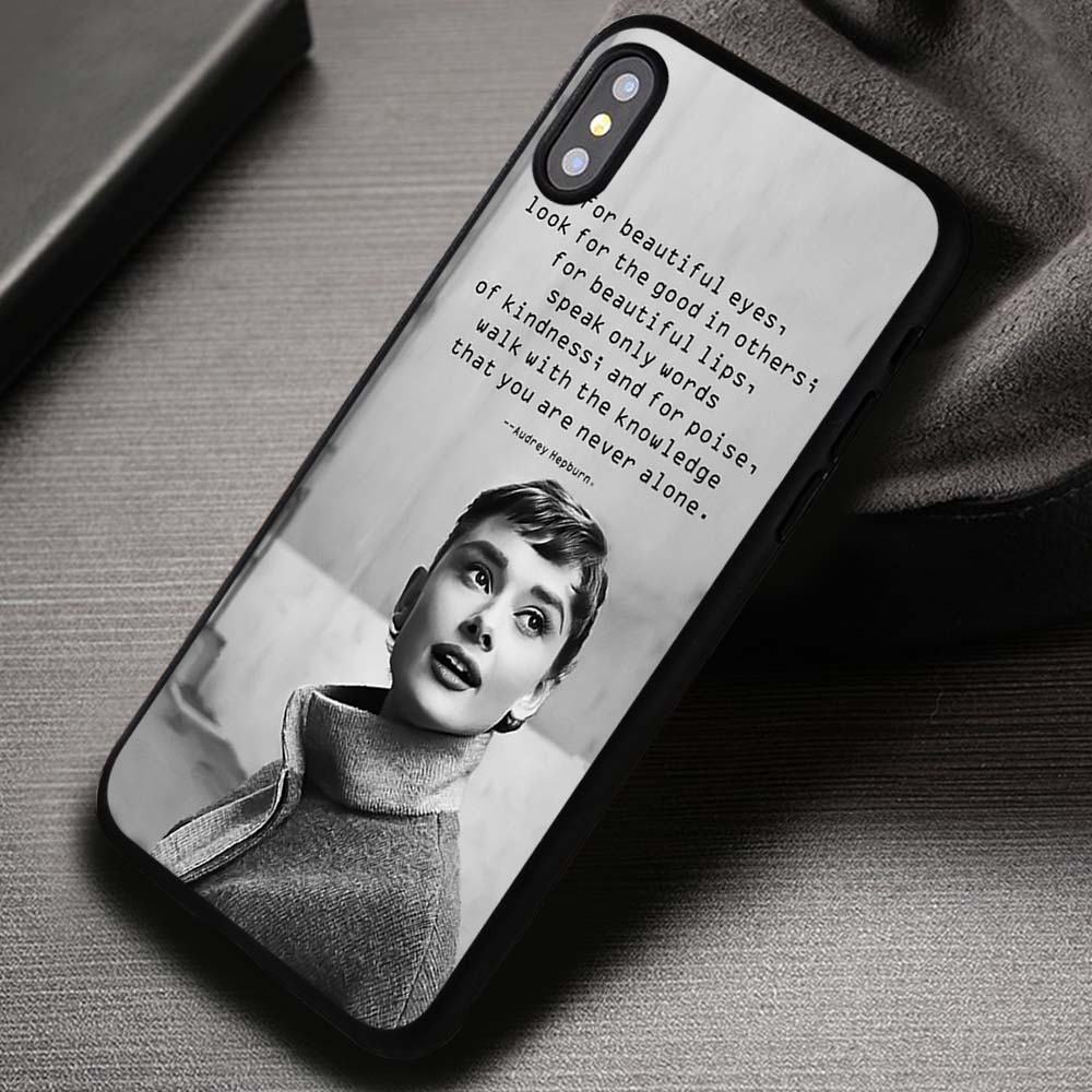 Audrey Hepburn Beauty Quotes Iphone X 8 7 6s Se Cases Covers