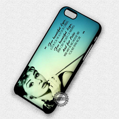 Audrey Hepburn Quote Retro - iPhone 7 6 Plus 5c 5s SE Cases & Covers