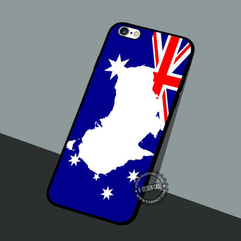 Australia Map Flag - iPhone 7 6 5 SE Cases & Covers