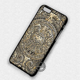 Aztec Calendar Pattern - iPhone 7 6 Plus 5c 5s SE Cases & Covers