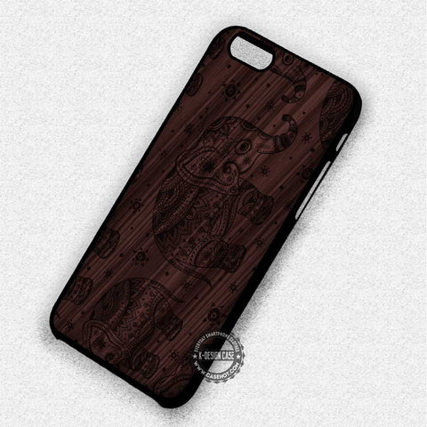 Aztec Elephant Wooden - iPhone 7 6S 5C SE Cases & Covers