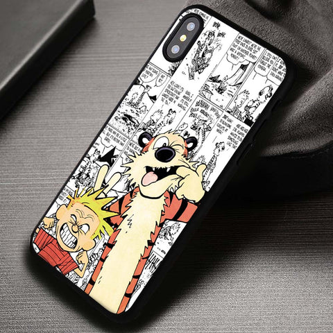 BFF Calvin And Hobbes Cartoon - iPhone X Case