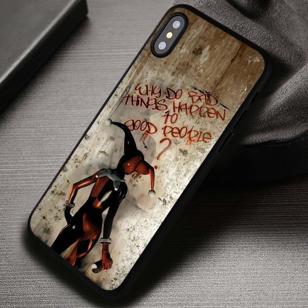 wholesale dealer bc6dc 8351d Bad Things Quote Harley Quinn Joker - iPhone X 8+ 7 6s SE Cases & Covers  #iPhoneX