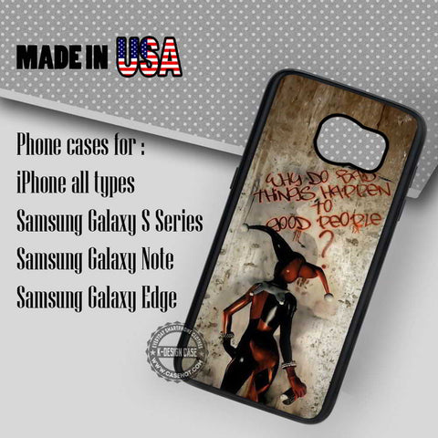 Quote Harley Quinn - Samsung Galaxy S7 S6 S5 Note 5 Cases & Covers