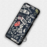 Bands Collage Sleeping with Sirens - iPhone 7 6 Plus 5c 5s SE Cases & Covers