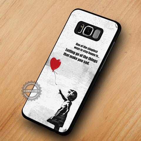 Banksy Balloon Girl with Quote - Samsung Galaxy S8 Case