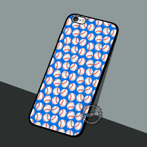Baseball Pattern - iPhone 7 6 5 SE Cases & Covers