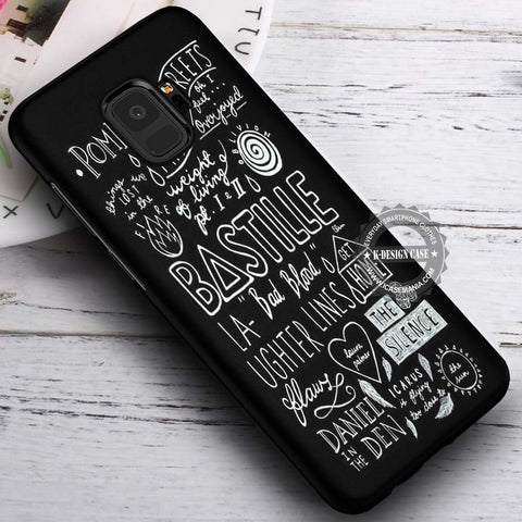 Bastille Lyrics Collage - Samsung Galaxy S8 S7 S6 Note 8 Cases & Covers #SamsungS9