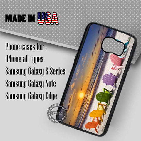 Beach Chairs Golden Sunset - Samsung Galaxy S7 S6 S5 Note 5 Cases & Covers