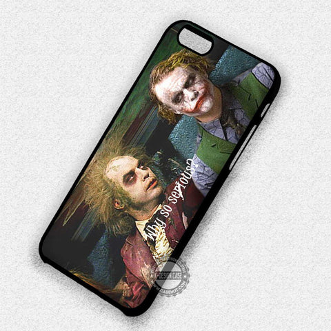 Beetlejuice and Joker - iPhone X 8+ 7 6s SE Cases & Covers