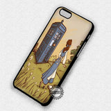 Belle and Tardis - iPhone 7 6 Plus 5c 5s SE Cases & Covers