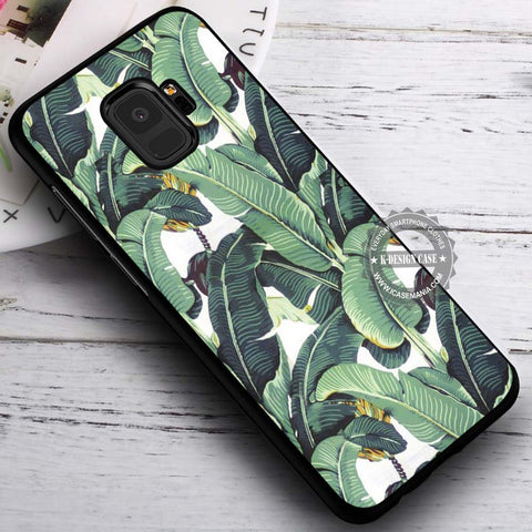 Beverly Hills Hotel Wallpaper Banana Leaf - Samsung Galaxy S8 S7 S6 Note 8 Cases & Covers #SamsungS9