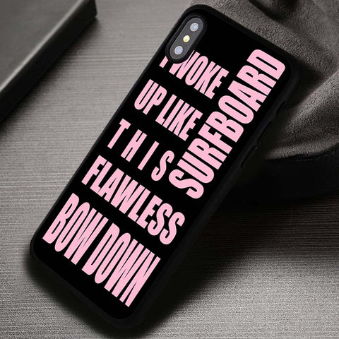 Beyonce Popular Quotes in Black - iPhone X Case