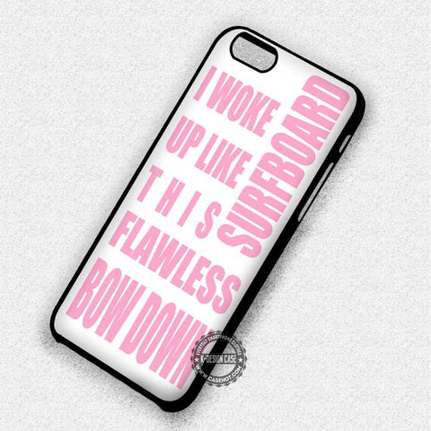 Beyonce Quotes in White - iPhone 7 6 Plus 5c 5s SE Cases & Covers