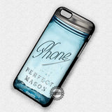Blue Mason Jar - iPhone 7 6S SE 4 Cases & Covers