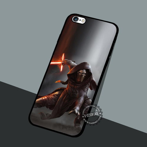 Kylo Ren Battles - iPhone 7 6 5 SE Cases & Covers