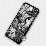 Bring Me The Horizon Collage BW - iPhone 7 6 Plus 5c 5s SE Cases & Covers