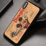 Brown Disneyland Ticket - iPhone X Case
