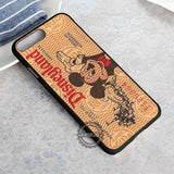 Brown Disneyland Ticket - iPhone 8+ Case