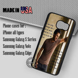 Luke Bryan Quotes- Samsung Galaxy S7 S6 S5 Note 5 Cases & Covers
