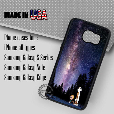 Calvin and Hobbes Nebula - Samsung Galaxy S7 S6 S5 Note 5 Cases & Covers